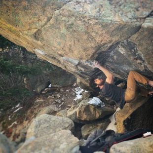 Jimmy Webb en The game 8C de Boulder Canyon  (Isabelle Faus)