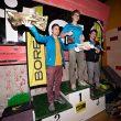 Podio masculino del XII Encuentro de Escaladores del Club de Escaladores del Pirineo 2016. 1ºMikel Linacisoro