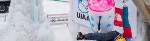 Janez Svoljsak en la Copa del Mundo de Escalada en Hielo 2016 en Rabenstein (Italia) (Patrick Schwienbacher/ UIAA)