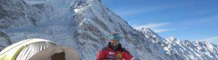 Daniele Nardi en el C1 del Nanga Parbat invernal. Febrero 2016  (Foto: Daniele Nardi)