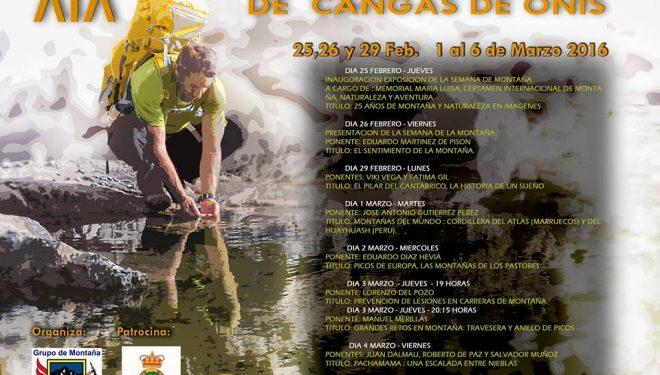 Cartel XIX Semana de Montaña de Cangas de Onís 2016  ()