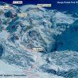 Ruta y campos de altura realizados durante la primera ascensión al Naga Parbar Invernal. Febrero 2016  ()
