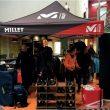 Puesto de prodcutos Millet en la primera parada del Rise-Up Tour 2016 en el rocódromo Deu Dits de Barcelona.  (Millet)