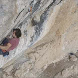 Chris Sharma en su proyecto Le Blonde