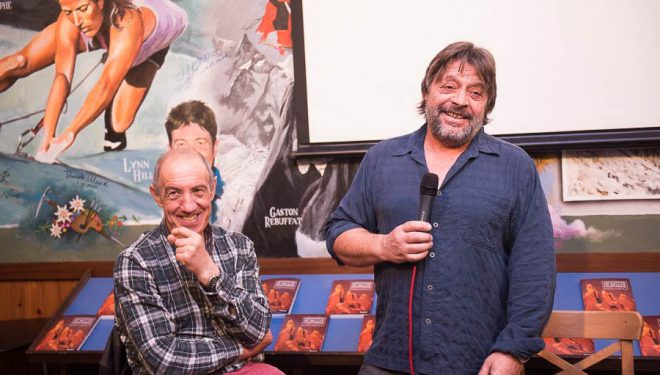 Juanjo San Sebastián (i) y Ramón Portilla en la Librería Desnivel. 2016  (@Darío Rodríguez)