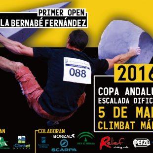 Cartel Primera pruebda de la Copa de Andalucía de Escalada de Dificultad 2016 en Climbat Málaga  ()