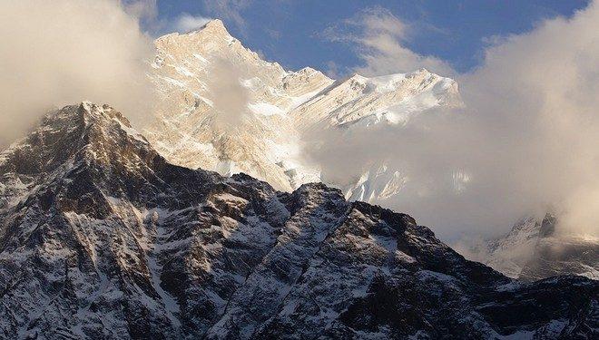 Sale el sol en el Annapurna
