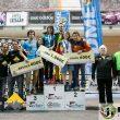 Podio femenino y masculino absoluta en la primera prueba de la Copa de España de Dificultad 2016 en el Cagigal