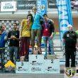 Podio sub18 masculino en la primera prueba de la Copa de España de Dificultad 2016 en el Cagigal