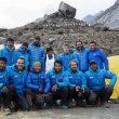 Carlos Soria y la expedición BBVA al completo en el CB del Annapurna. Marzo 2016  (Col. Carlos Soria)