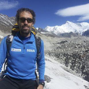 Sito Carcavilla durante la expedición al Kangchenjunga (2014)  (c) BBVA/Expedición Carlos Soria)