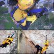 Rescate en helicóptero por escalar un acantilado para pedir matrimonio a su novia  ()