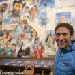 Alex Txikon (recién llegado de su Nanga Parbat invernal) en la proyección del documental Bájame una estrella de Juanjo San Sebastian en la librería Desnivel.  (Darío Rodríguez / Desnivel)