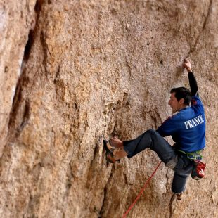 Romain Desgranges en El intento 9a de Cuenca  (Col. R. Desgranges)
