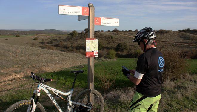 En el inicio de una variante BTT encontrara?s un panel con un mapa detallado de la ruta a seguir  (IMBA)