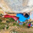Ander Lasagabaster en Begi puntuan 9a de Etxauri  (Foto:  Jon Aranburu)