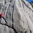 Miguel Velasco escalando en el International Climbing Meeting 2016 de Paklenica  (Rafa Vadillo)