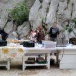 El bar en la base de las paredes del cañón de Paklenica en el International Climbing Meeting 2016  (Rafa Vadillo)