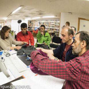 Reunión del jurado del Premio Desnviel de Material 2016  (Darío Rodríguez / Desnivelpress)