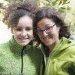 La escaladora María Benach (13 años)en Margalef con su madre (mayo 2016).  (© Darío Rodríguez/DESNIVEL)