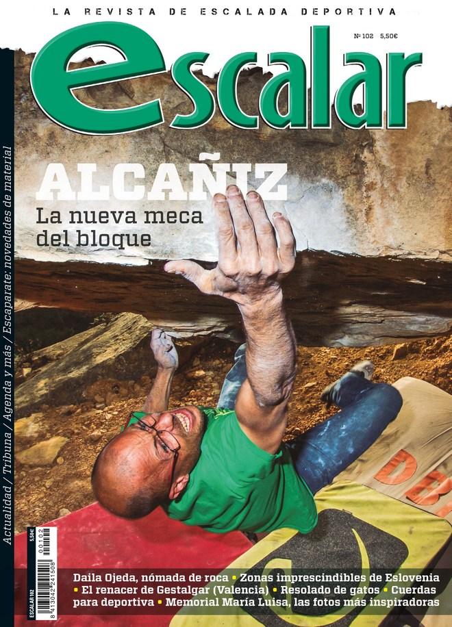 Portada de la revista Escalar nº 102. Especial Alcañiz. [WEB]  ()