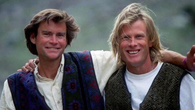 Alex Lowe y Conrad Anker en 1995  (Foto: Fundación Alex Lowe)