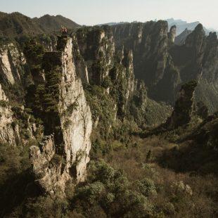Mayan y Ben en su primera cima en el Father después de completar Beijing Belly (6c)