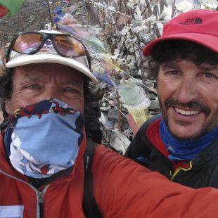 Lluis Rafols y Oscar Cadiach en  el campo base del Kangchenjunga  ((c) Oscar Cadiach)