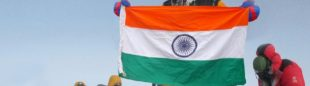 Foto trucada en la cima del Everest  ()