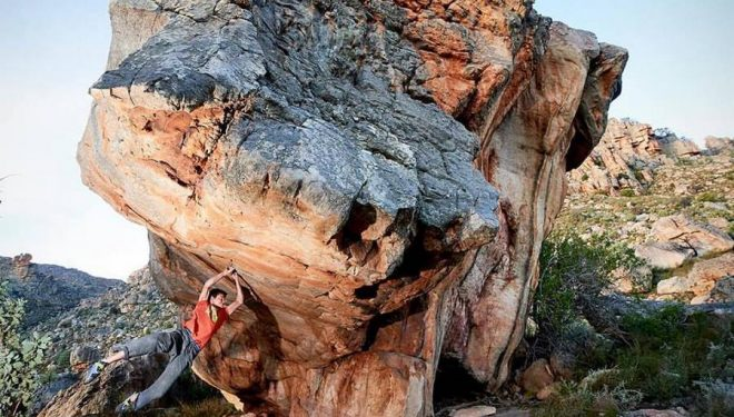 Paul Robinson en The dragons guardian 8C de Cederberg  (Col. P. Robinson)