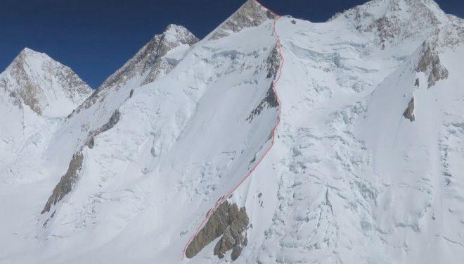 Ascenso al Gasherbrum II por la ruta francesa del 75.  (WOpeak)