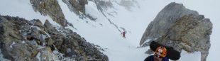 Juan Vallejo durante la última salida de aclimatación en los Gasherbrum. Expedición WOPeak 2016.  (Alberto Iñurrategi)