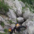 Urko Carmona y Somine Salvagnin en el Monte Baffelàn