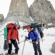 Ines Papert y Mayan Smith-Gobat en la aproximación a la Riders on the Storm de las Torres del Paine  (Thomas Senf)