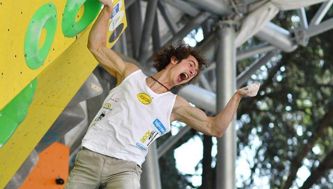 Adam Ondra vencedor del KO Boulder Contest en Arco Rock Master 2016 (Giulio Malfer)