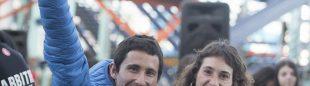 Ramón Julián y Helena Alemán, foto de archivo (Copa España Dificultad 2016, ganadores primera prueba).