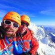 Max Bonniot y Didier Jourdain en la cima del Siula Grande  (Foto: GMHM)