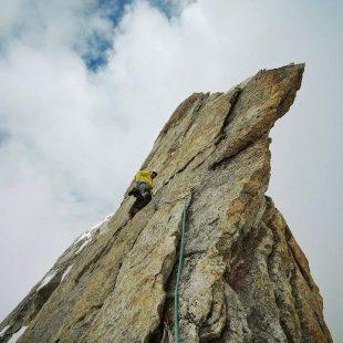 Cristóbal Señoret en La arista de los sueños al Monte Iñaki (Himalaya indio)  (Col. C. Señoret)