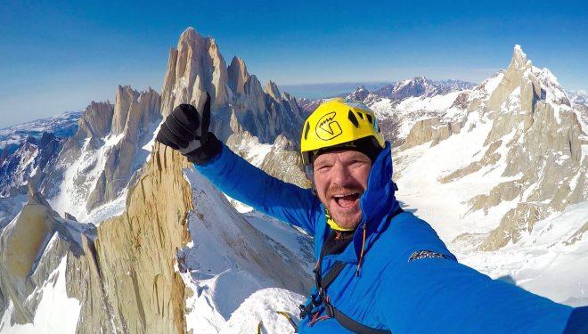 Markus Pucher en la cumbre del Cerro Pollone (colección Markus Pucher)