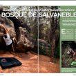 Apertura del árticulo Bulder de la revista Escalar 104.  ()