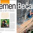 Apertura del árticulo Klemen Becan de la revista Escalar 104.  ()