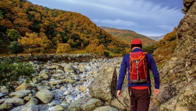 La garganta de Santa María rodeada de un bosque de castaño con sus colores otoñales.  (Juanjo Sierra)