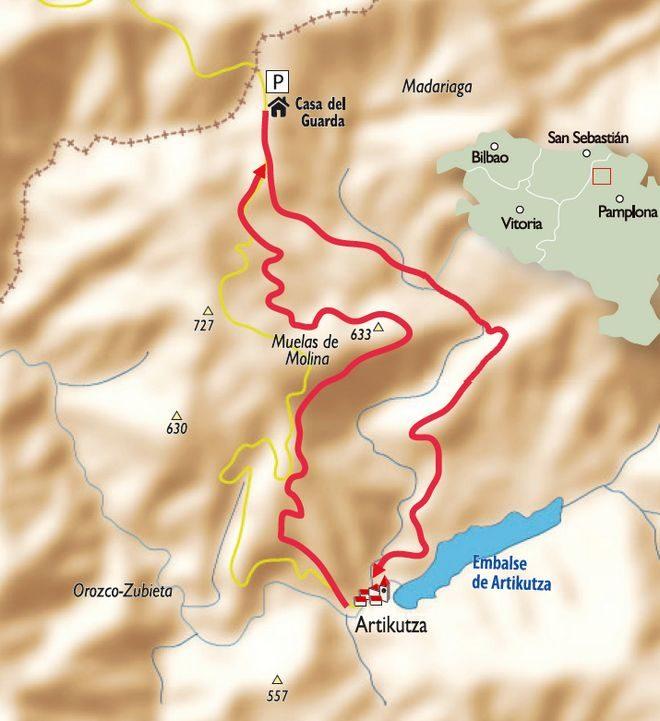 Mapa del Bosque Artikutza.  ()