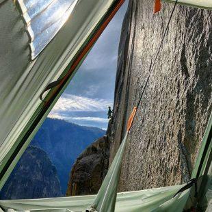 Adam Ondra en el Dawn Wall de Yosemite  (Foto: Pavel Blažek)