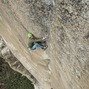 Adam Ondra en la primera repetición del Dawn Wall (900m