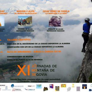 Cartel de las XI Jornadas de Montaña de Segovia