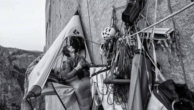 Adam Ondra en el Dawn Wall de Yosemite (Foto: Heinz Zak)