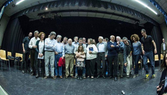 Familia y amigos en la presentación de la biografía Carlos Soria. Alpinista en Madrid. Diciembre 2016.  (Ángel Pablo Corral)