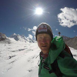 Sean Burch durante su desafío en Nepal  (Col. S. Burch)