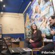 Pati Blasco y Ricardo Martínez llorca en la presentación de Luz en las grietas